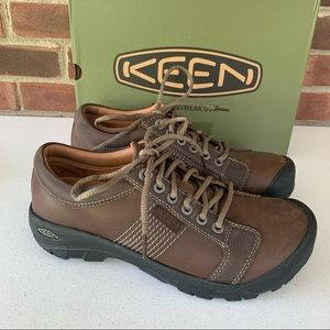 KEEN Austin casual shoes brown leather 1011395 Men